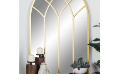 Gold Arch Wall Mirrors