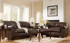 Living Room With Brown Sofas