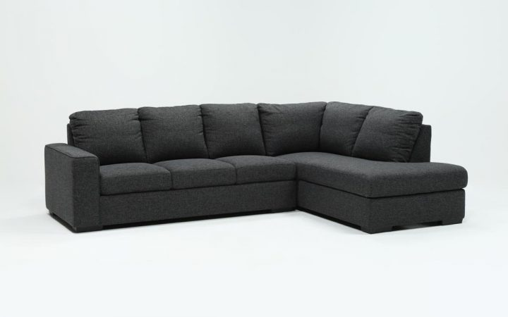Lucy Dark Grey 2 Piece Sleeper Sectionals with Raf Chaise