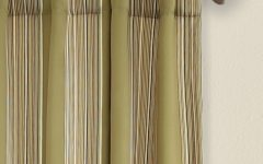 Julia Striped Room Darkening Window Curtain Panel Pairs