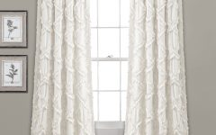 Ruffle Diamond Curtain Panel Pairs