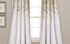Weeping Flowers Room Darkening Curtain Panel Pairs