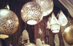 Punched Tin Pendant Lights