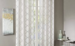Laya Fretwork Burnout Sheer Curtain Panels