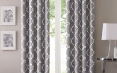 Fretwork Print Pattern Single Curtain Panels