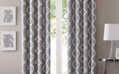 Fretwork Print Pattern Single Curtain Panels