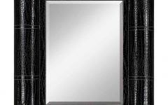 Black Leather Framed Mirrors