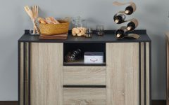 Light White Oak Two-tone Modern Buffets