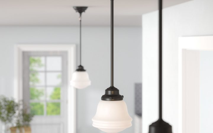 1-light Single Schoolhouse Pendants