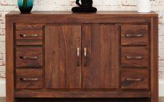 Antique Walnut Finish 2-door/4-drawer Sideboards
