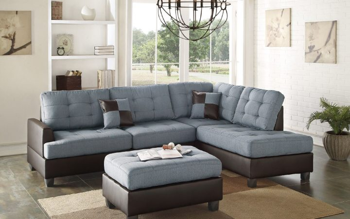 4pc Crowningshield Contemporary Chaise Sectional Sofas