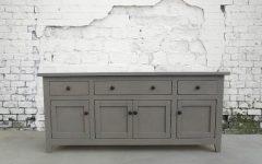 "Thame 70"" Wide 4 Drawers Pine Wood Sideboards"