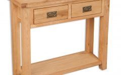 Natural 2-door Plasma Console Tables