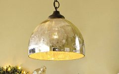 Mercury Glass Pendant Lighting