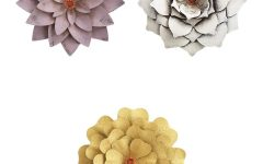 Metal Flower Wall Decor (set of 3)