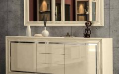 High Gloss Cream Sideboards