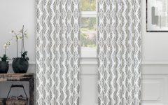 Miranda Haus Labrea Damask Jacquard Grommet Curtain Panels
