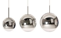 Silver Ball Pendant Lights