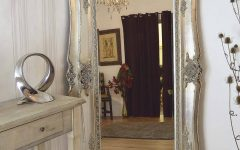 Free Standing Silver Mirrors