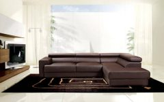 Contemporary Brown Leather Sofas