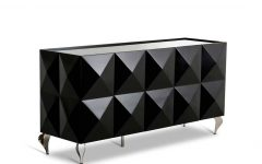 Black Gloss Buffet Sideboards