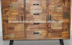 Corrugated Natural 6-door Sideboards