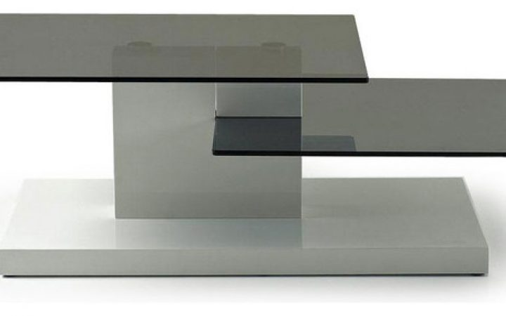 Modern Glass Top Coffee Table Living Rooms