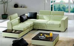 Green Leather Sectional Sofas