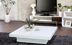 Modern White Coffee Table Elegant Classic