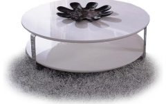 Modern White Round Coffee Tables