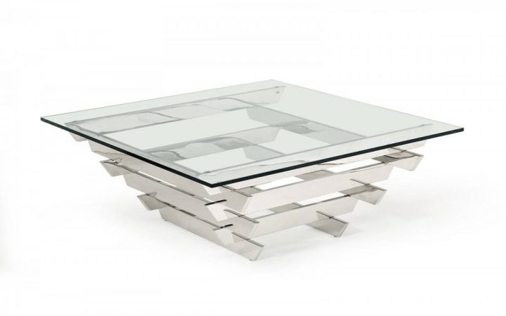 Modern Square Glass Coffee Tables