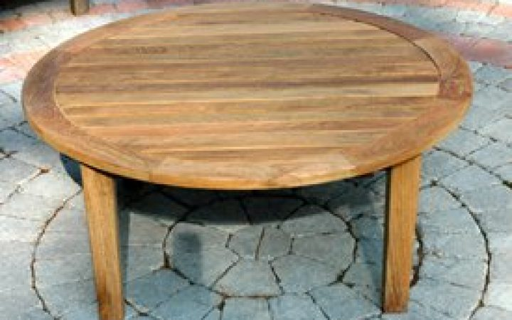 Round Outdoor Coffee Table Umbrella Hole