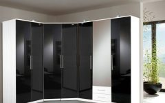 Black Gloss Mirror Wardrobes