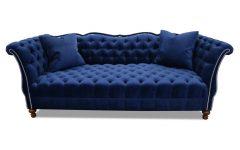 Blue Tufted Sofas