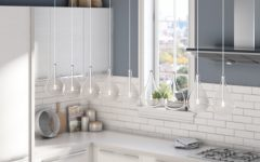 Neal 9-Light Kitchen Island Teardrop Pendants