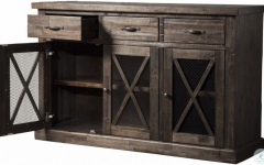 """Fahey 58"""" Wide 3 Drawer Acacia Wood Sideboards"""