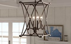 Nisbet 4-light Lantern Geometric Pendants
