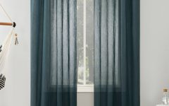 Erica Sheer Crushed Voile Single Curtain Panels