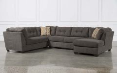 Norfolk Grey 3 Piece Sectionals with Raf Chaise