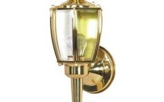 Polished Brass Outdoor Wall Lighting