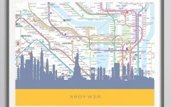 New York Subway Map Wall Art