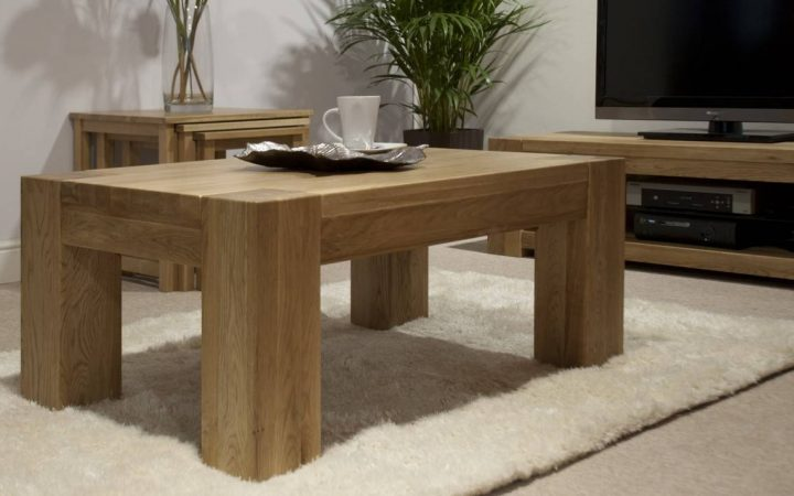 Large Square Oak Coffee Tables