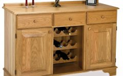 Oak Sideboards With Wine Rack