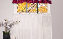 Oakwood Linen Style Decorative Curtain Tier Sets