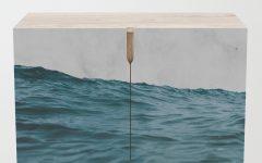 Ocean Marble Credenzas