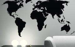 Vinyl Wall Art World Map
