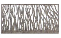 Olive/gray Metal Wall Decor