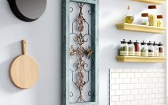 Ornamental Wood and Metal Scroll Wall Decor