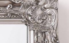 Pewter Ornate Mirrors