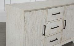 Antique White Distressed 3-drawer/2-door Sideboards